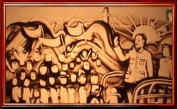 55 năm bác hồ về thăm làng cá Cát Bà, tranh cát