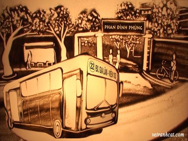 Trước cổng trường Phan Đình Phùng - Hà Nội